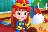Baby Hazel Feuerwehrfrau
