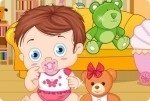 Baby mit Teddybaer