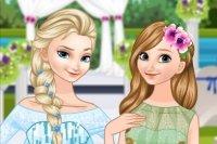 Braut Elsa und Brautjungfer Anna