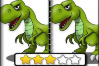 Dinosaurier Finde die Unterschiede