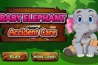 Elefanten Baby verarzten
