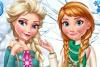 Elsa und Anna Wintermode