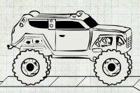 Geländewagen mit Anhänger