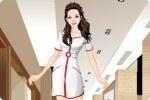 Krankenschwester ankleiden