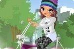 Layla auf dem Fahrrad