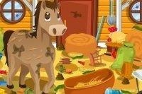 Pferdestall aufräumen