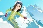 Schifahrerin ankleiden