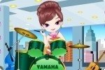Schlagzeugerin ankleiden