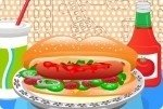 Selbstgemachter Hotdog