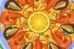 Spanische Paella Pfanne