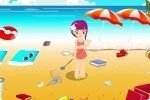 Strand sauber machen