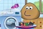 Wäsche waschen mit Pou