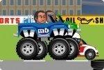 Motorrennen mit Köpfen