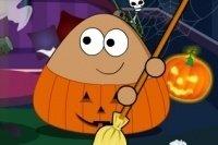 Pou Halloween aufräumen