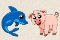 Verbinde die Tiere